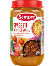 Semper spagetid hakklihakastmega 235 g, alates 1-eluaastast