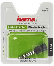 Audio adapter 3,5 mm pesa-6,3 mm otsik, stereo