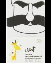 Laste tekikotikomplekt Ciraf, 120 × 160 cm + 40 × 60 cm