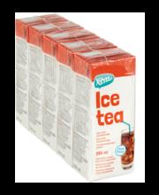 Xtra Ice Tea Peach jäätee, 5 X 250 ml