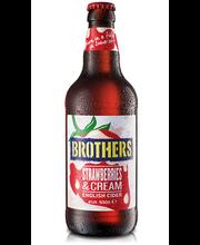 Brothers maasika & kreemimaitseline siider 4% 500ml