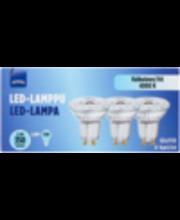 LED-lamp Gu10 3,6W 4000K 350LM, 3 tk