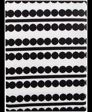 Laudlina Helmi Dots 140x250 cm, must/valge