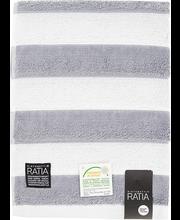 Froteerätik Texture 70x140 cm, hall/valge