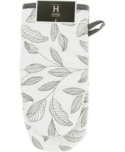 Pajakinnas lehdet must/ valge 15x30 cm, 100% puuvill