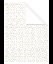 Raamatupaber 70x200cm valge kuldsed täpid