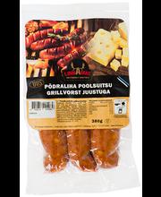 Põdraliha poolsuitsu grillvorst juustuga 380 g