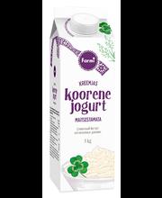 Maitsestamata koorene jogurt, 1 kg