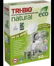Tri-bio nõudepesumasina tabletid 50 tk, öko