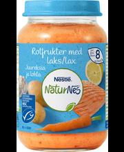 NaturNes juurviljad ja kala sidruniga 190 g, alates 8-elukuust