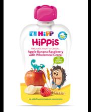 Hipp Hippis õuna-banaani-vaarika-täisteraviljapüreee 100g, öko, alates6-elukuust