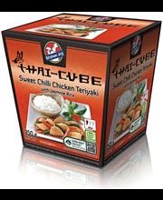 Teriyaki-broiler ja jasmiiniriis magusas tšillikastmes, 350 g