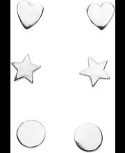 Cailap kõrvarõngad 3 paari hõbedased