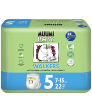 Muumi Baby püksmähkmed Walkers 5, 7-15 kg, 22 tk
