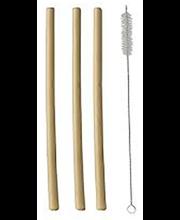 Joogikõrred bambusest 23 cm 12 tk + puhastushari