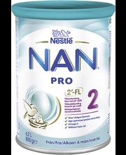 Nan Pro 2 Piimal põhinev jätkupiimasegu 800 g, alates 6-elukuust