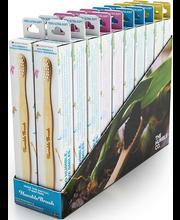 Hambahari Brush lastele, bambusvarrega, erinevad värvid