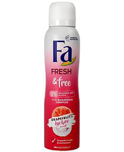 Spreideodorant Fresh&Free Grapefruit Lychee 150 ml