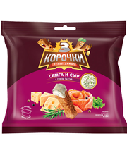 3 Korochki lõhe-juustumaitselised kuivikud tartar kastmega 85 g