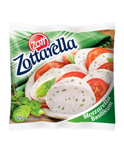 Mozzarella juust Zottarella basiilikuga, 125 g