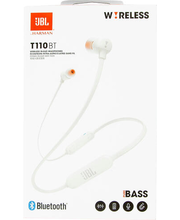 Nööpkõrvaklapid mikrofoniga T110BT valge
