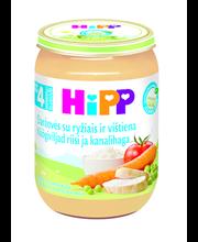 Hipp köögiviljad riisi ja kanalihaga 190 g, bio, alates 4-elukuust