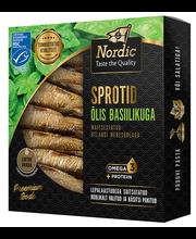 NORDIC Sprotid õlis basiilikuga 120/85 g