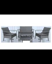 Aiamööbli komplekt 4-osa: laud 81x48x41 cm, diivan 118x68x79 cm