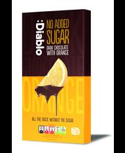 Tume šokolaad apelsinitükkidega,gluteenivaba, suhkruvaba 75 g