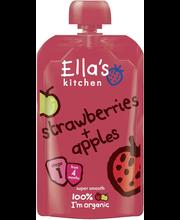 Ella´s Kitchen maasika-õunapüree 120 g, öko, alates 4-elukuust