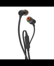 Nööpkõrvaklapid mikrofoniga T110, must
