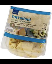 Tortelloonid Ricotta, Edami, Emmentali, Grana Padano ja Gorgonzolajuustu täidisega 250 g