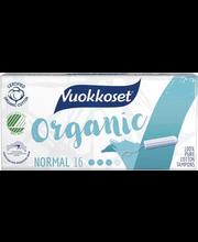 Vuokkoset Organic Normal tampoonid 16 tk