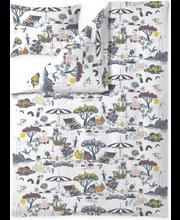 Tekikott+padjapüür Muumid ja meri 150x210+50x60 cm, valge/kirju