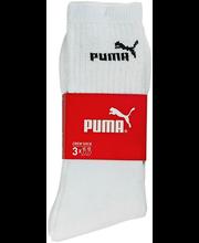 Naiste spordisokid Puma 3 paari valge, 35-38