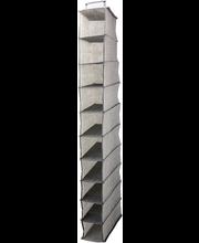 Riiul 15x30x120 cm 10-osa, tekstiil