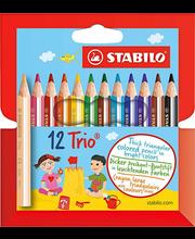 Värvipliiats Trio Mini 4,2 mm 12 tk