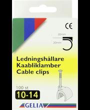 Gelia kaabliklambrid, 10-14 mm, 100 tk, valge