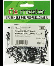 Fixmaster neet, 3,2 x 10 mm, 100 tk, must