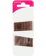 Raffini juukseklamber pruun 48 mm 24 tk