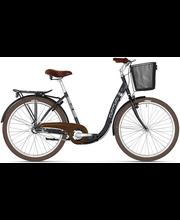 """Jalgratas Relax 26"""" madala raamiga 3 käiku, must"""