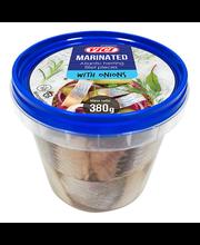 Atlandi heeringafilee tükid sibulaga marinaadis 380 g