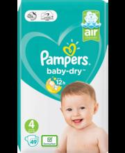 Pampers teipmähkmed Baby Dry 4, 9-14kg, 49 tk