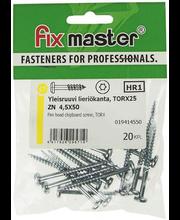 Fixmaster universaalkruvi, ümarpea, osakeere, TX25, 4,5 x 50 ...