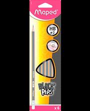 Harilik pliiats kummiga Maped 6 tk