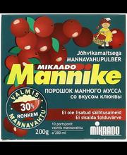 Mannike jõhvikamaitseline mannavahupulber 200g