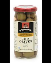 Rohelised oliivid küüslaugutäidisega 360/210 g