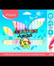 Viltpliiats ColorPeps Jungle 18tk
