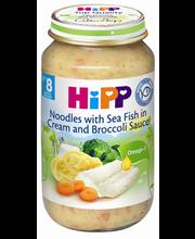 Hipp makaroni-kala-brokolipüree 220g, alates 8-elukuust