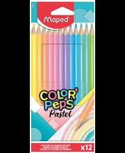 Värvipliiats ColorPeps Pastel 12tk